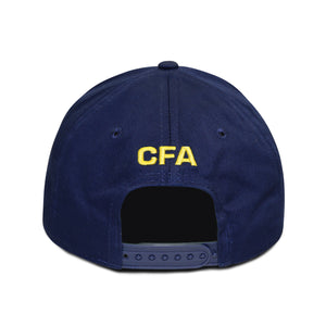 Club America Embroidered Logo 6 Panel Structured Cap - Navy by Icon Sports