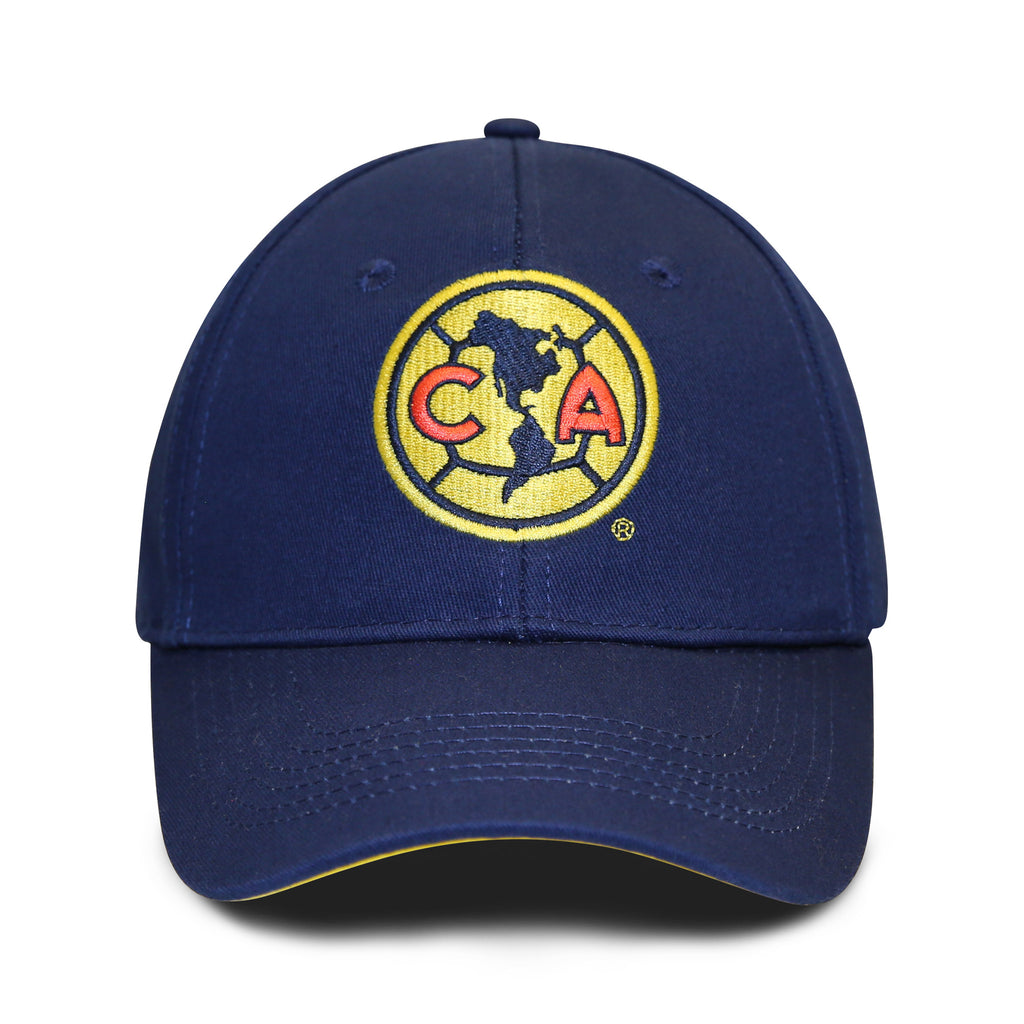 Club America Embroidered Logo 6 Panel Structured Cap - Navy