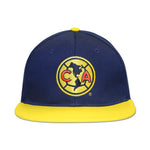 Club America Embroidered Logo 6 Panel Snapback - Navy/Yellow