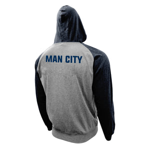 Manchester City FC Lightweight Full-Zip Hoodie by Icon Sports