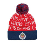 Chivas Youth Solid Cuff Pom Beanie