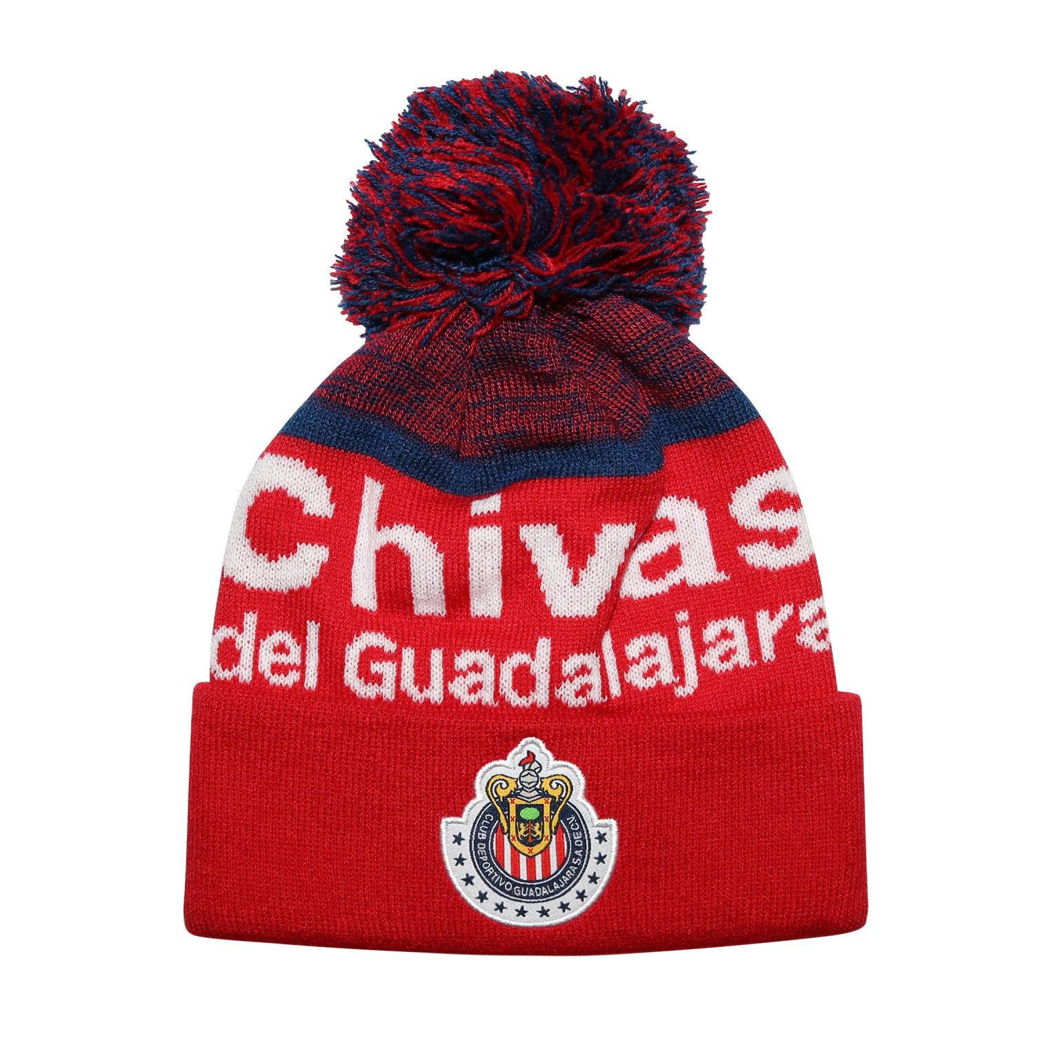 Chivas Youth Solid Cuff Pom Beanie by Icon Sports