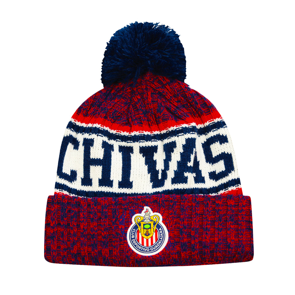 Chivas Crowned Youth Cuff Pom Beanie by Icon Sports