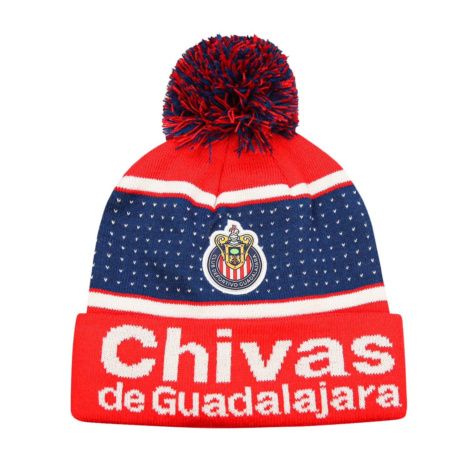 Chivas Pegged Cuff Pom Beanie by Icon Sports
