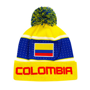 "Colombia ""Pegged"" Adult Unisex Beanie by Icon Sports"