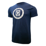 Cruz Azul Distressed Logo T-Shirt - Navy Blue by Icon Sports