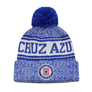 Cruz Azul Crowned Youth Pom Pom Beanie by Icon Sports