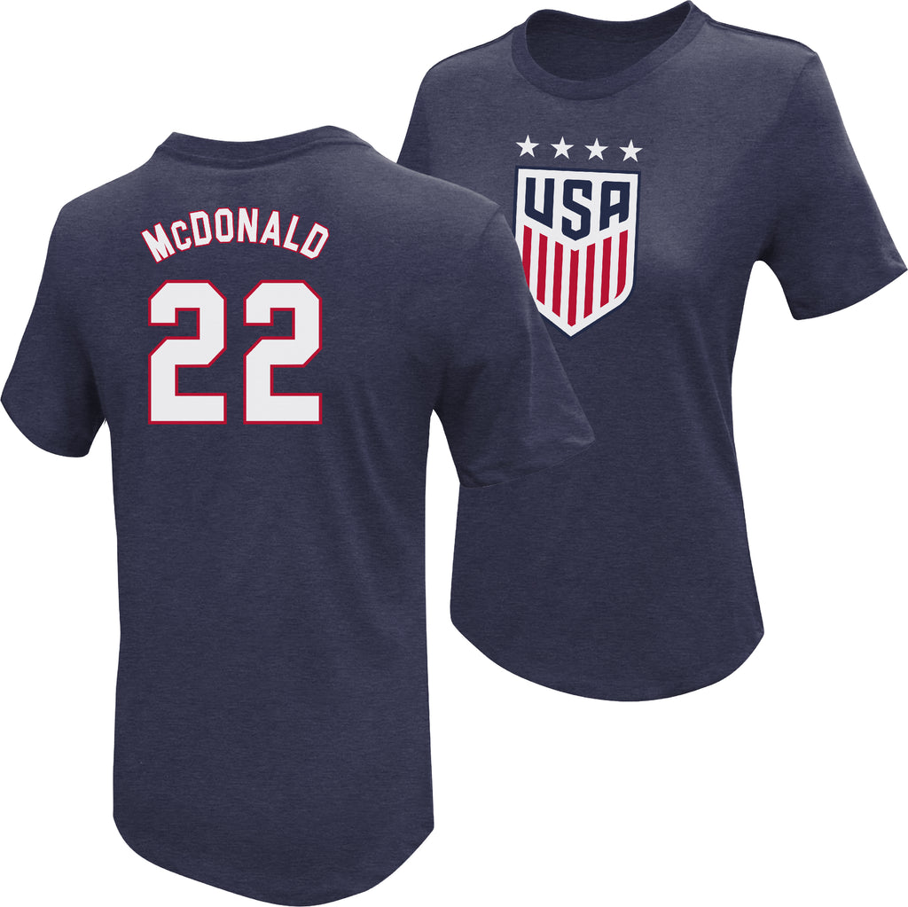 Jessica McDonald USWNT 4 Star T-Shirt by Icon Sports