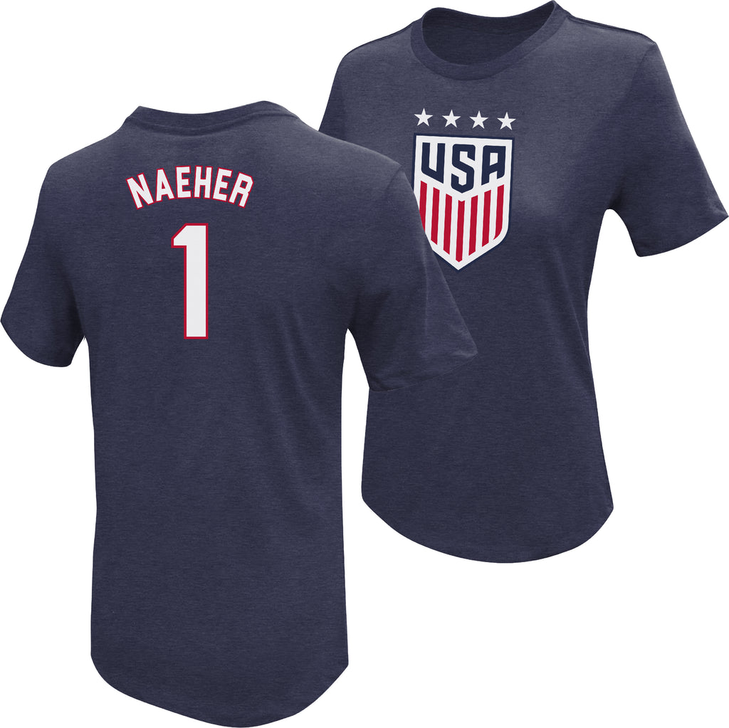 Alyssa Naeher USWNT 4 Star T-Shirt by Icon Sports