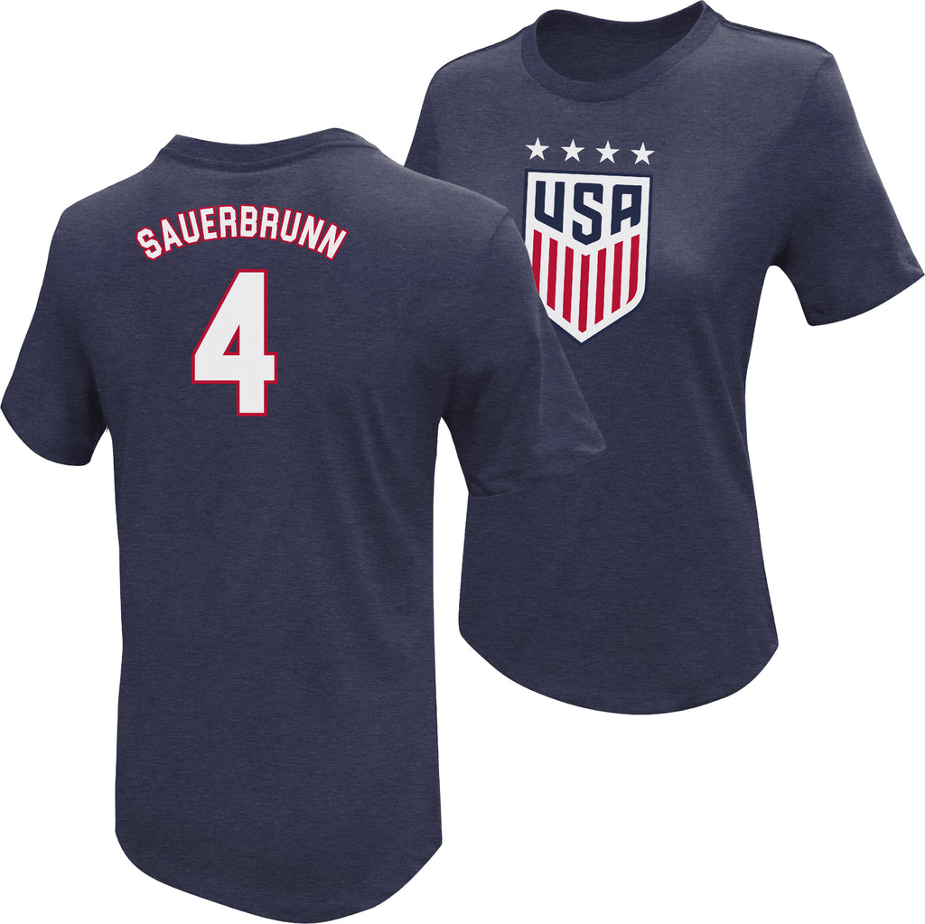 Becky Sauerbrunn USWNT 4 Star T-Shirt by Icon Sports