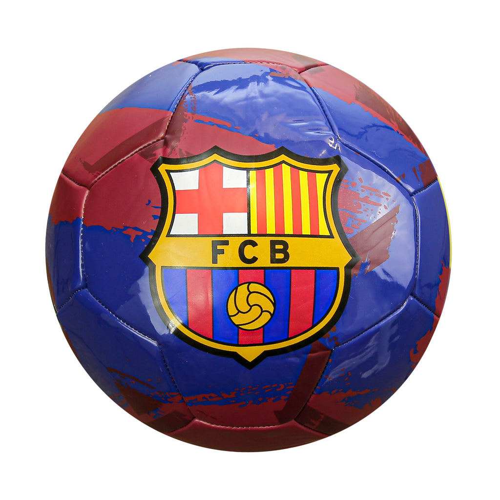 FC Barcelona Brush Size 5 Soccer Ball - Blue by Icon Sports