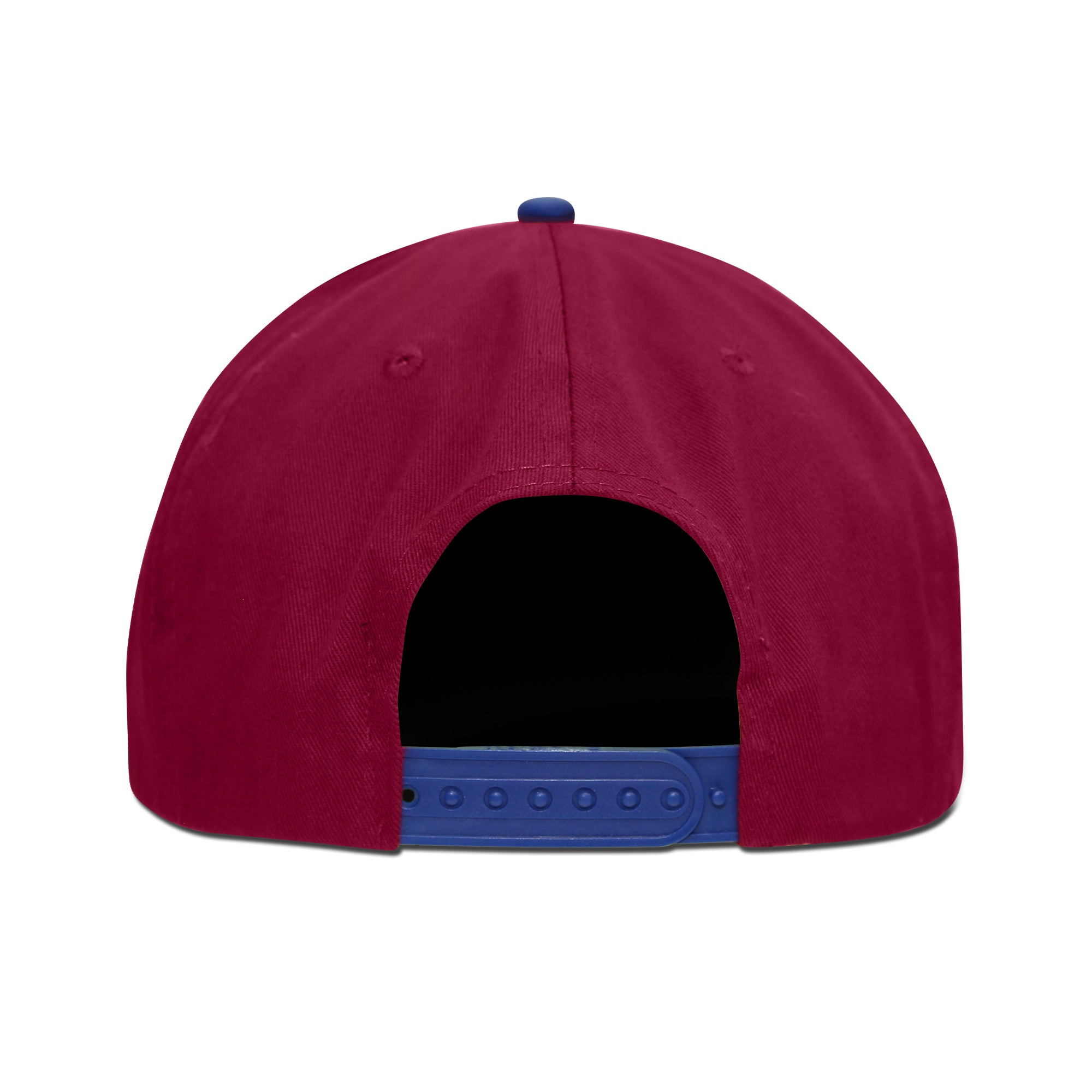 FC Barcelona Embroidered Logo 6 Panel Snapback - Burgundy/Royal by Icon Sports