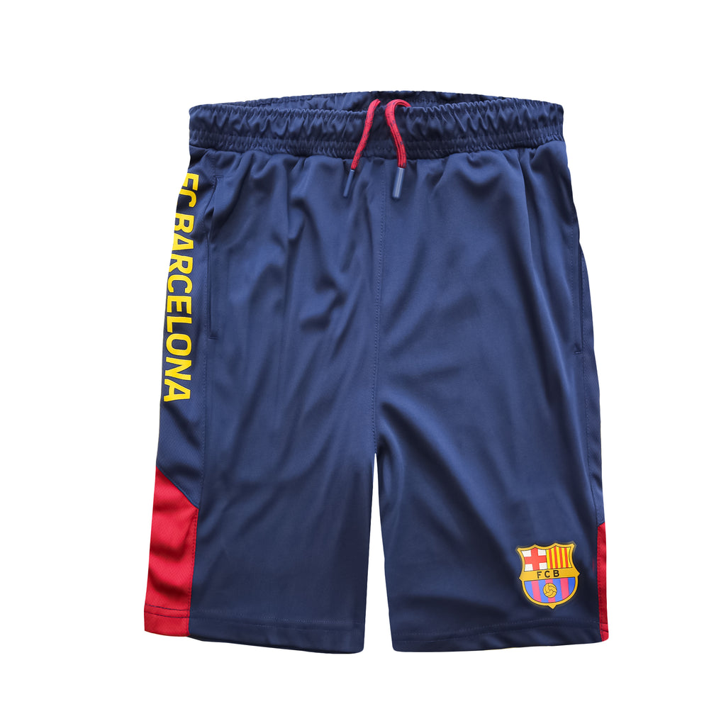 FC Barcelona Navy Youth Shorts by Icon Sports