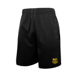 FC Barcelona Reflective Athletic Soccer Shorts in Black by Icon Sports