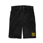 FC Barcelona Youth Reflective Athletic Soccer Shorts in Black by Icon Sports