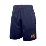 FC Barcelona Reflective Athletic Soccer Shorts in Navy by Icon Sports