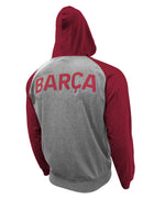 FC Barcelona Lightweight Pullover Hoodie in Maroon by Icon Sports