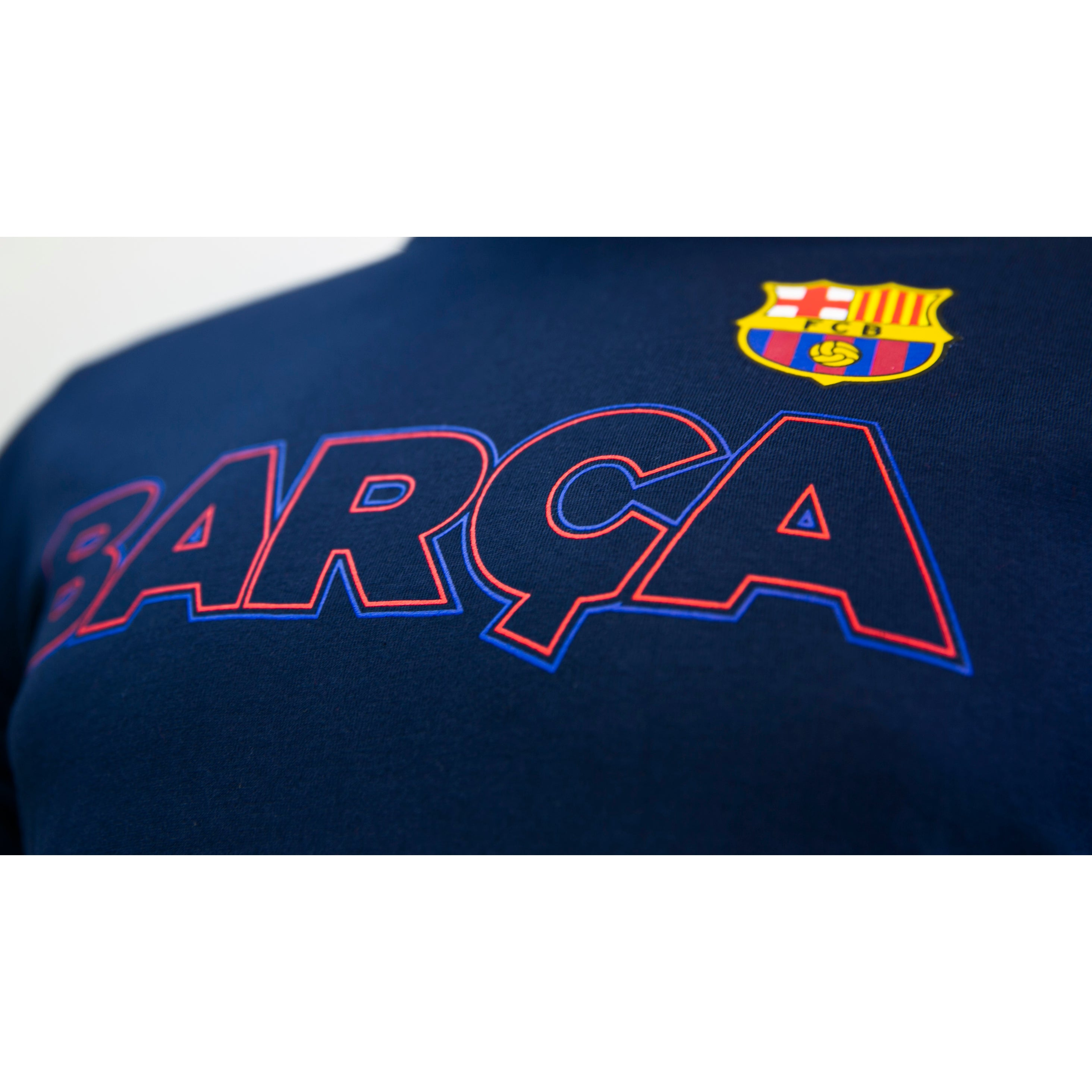 "FC Barcelona ""Outline T-Shirt - Maroon by Icon Sports"