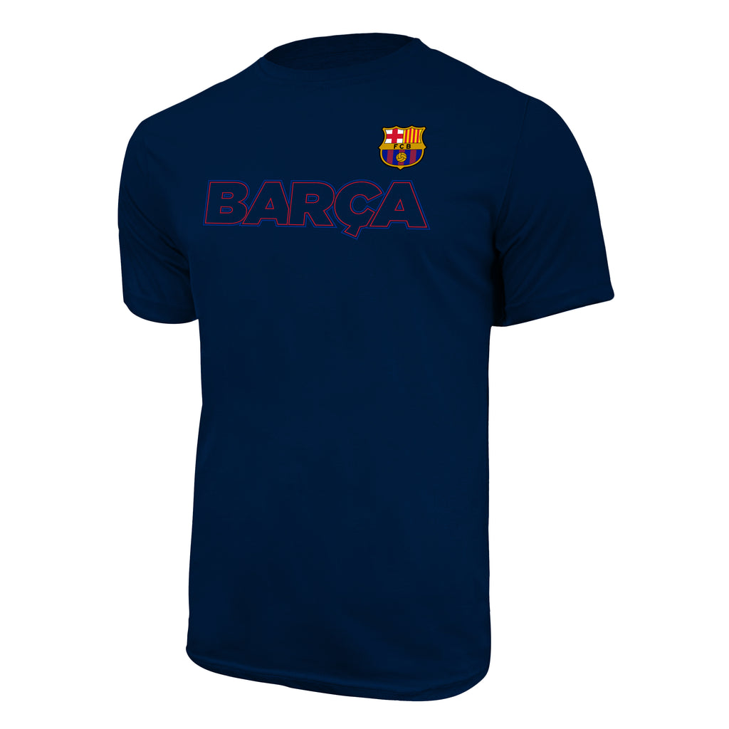 "FC Barcelona ""Outline T-Shirt - Navy by Icon Sports"