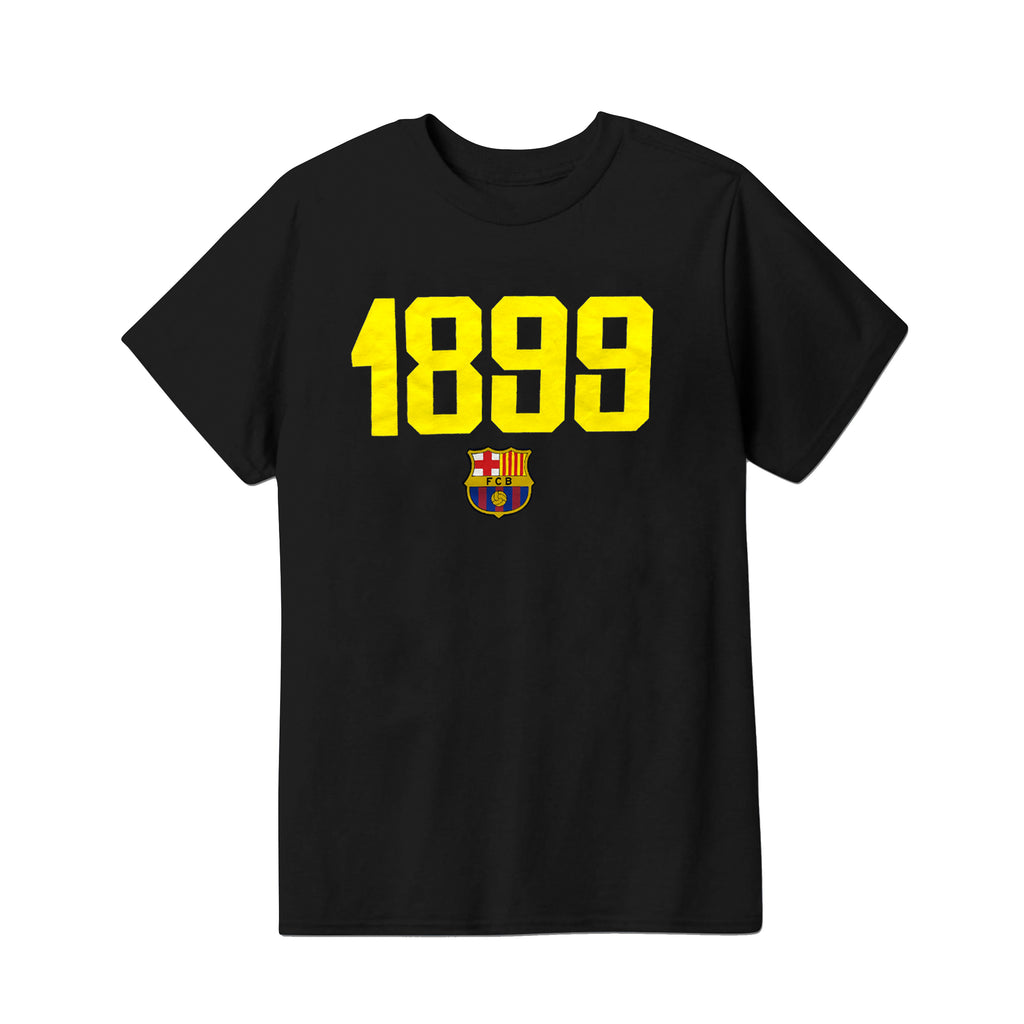 FC Barcelona 1899 Youth T-Shirt - Black by Icon Sports