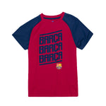 FC Barcelona Youth Barça Polyester Tee - Red by Icon Sports