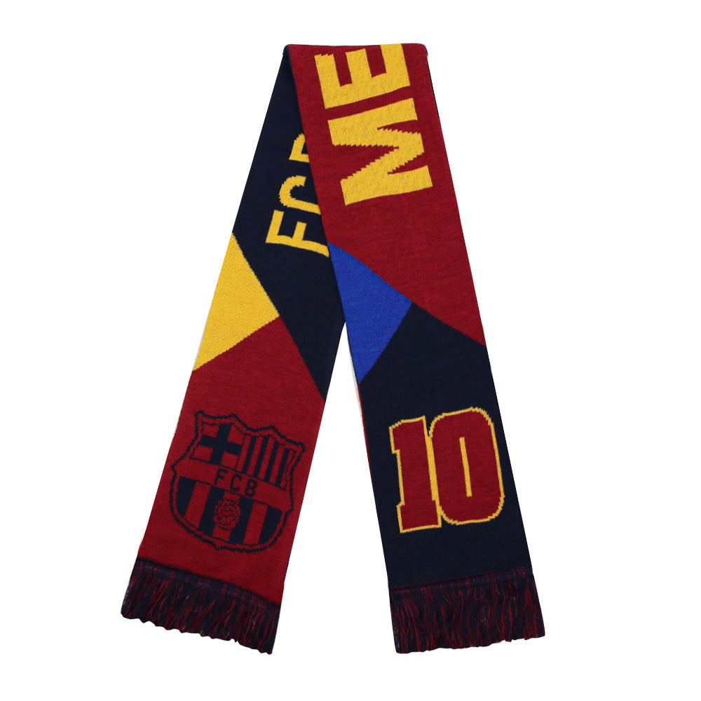 FC Barcelona Messi Facet Reversible Fan Scarf by Icon Sports
