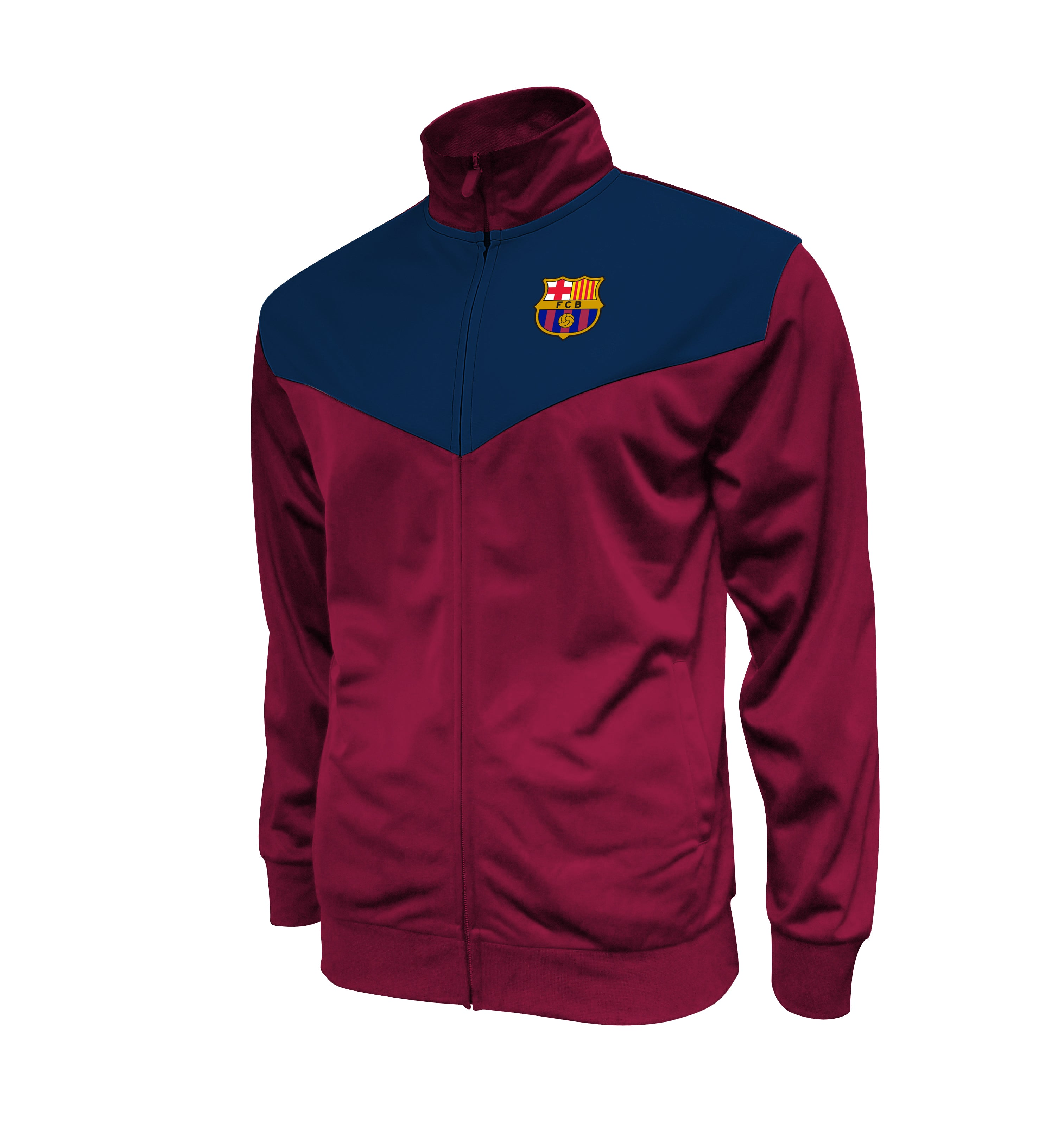 FC Barcelona Adult Full-Zip Track Jacket - Red by Icon Sports