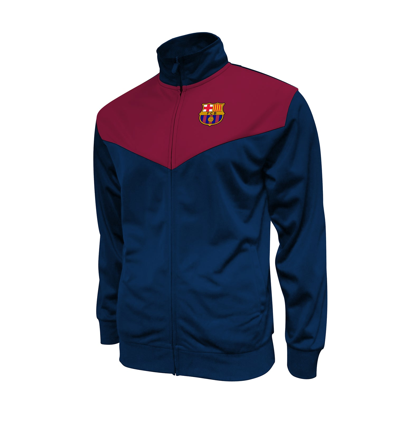 "FC Barcelona Adult Full-Zip ""NextGen"" Track Jacket by Icon Sports"