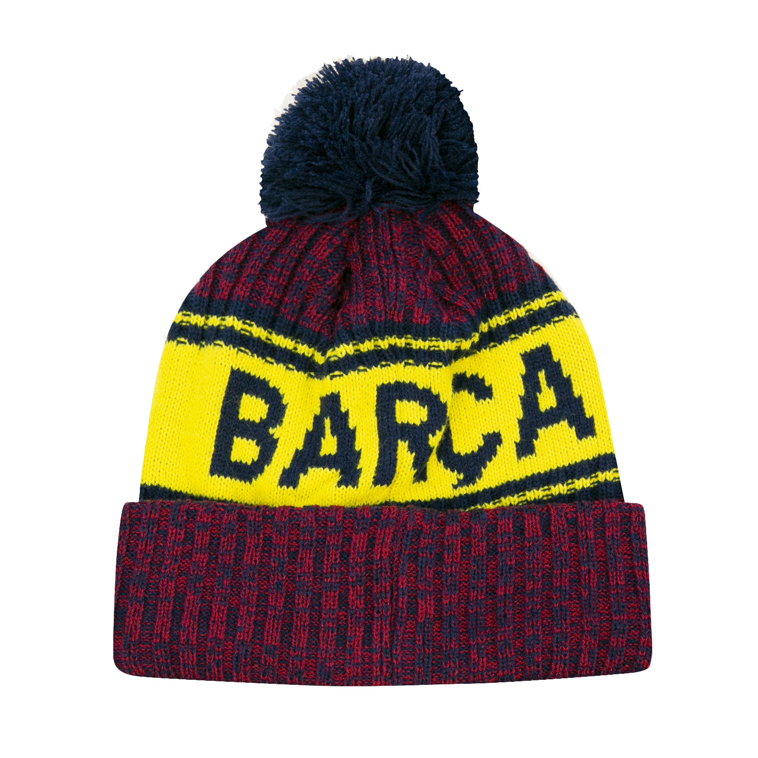 FC Barcelona Crowned Pom Beanie by Icon Sports