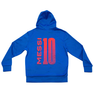 FC Barcelona Youth Messi Hyper OL Pullover Hoodie - Blue by Icon Sports