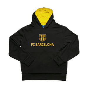 FC Barcelona Youth Messi Hyper OL One Color Logo Pullover Hoodie - Black by Icon Sports