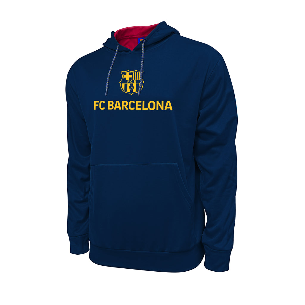 FC Barcelona Hyper OL Pullover Hoodie - Navy by Icon Sports