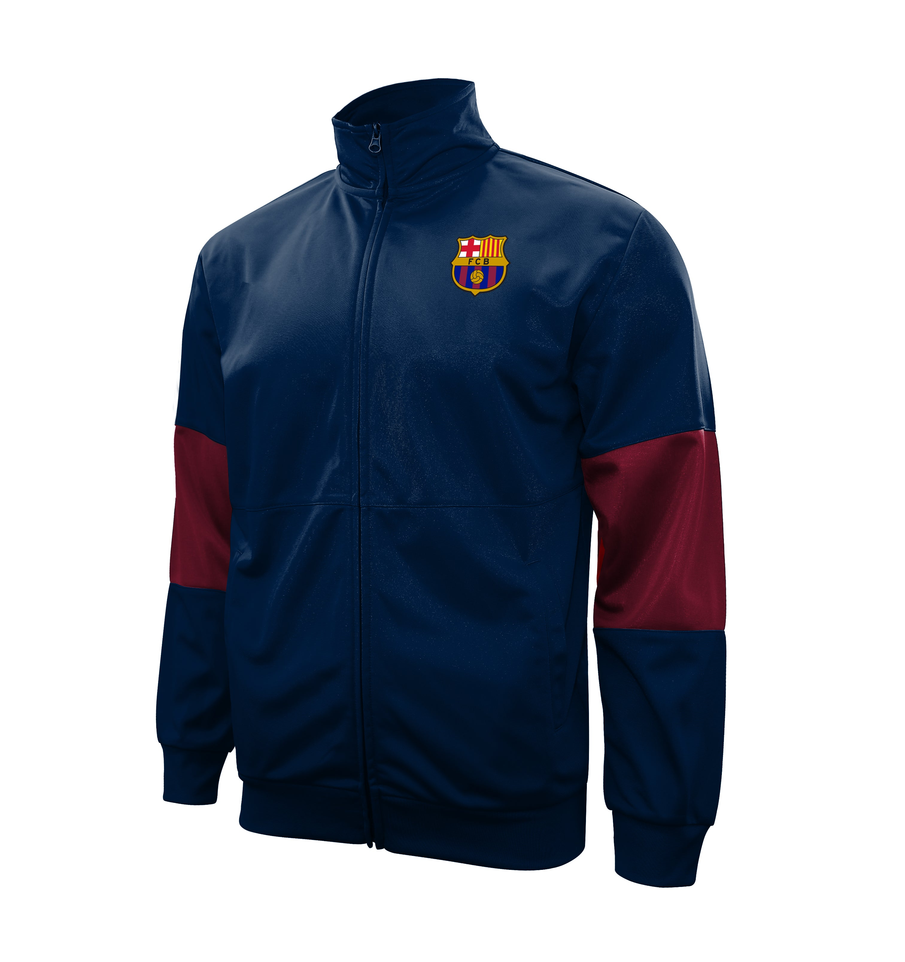 "FC Barcelona Adult Full-Zip ""Touchline"" Track Jacket - Navy by Icon Sports"