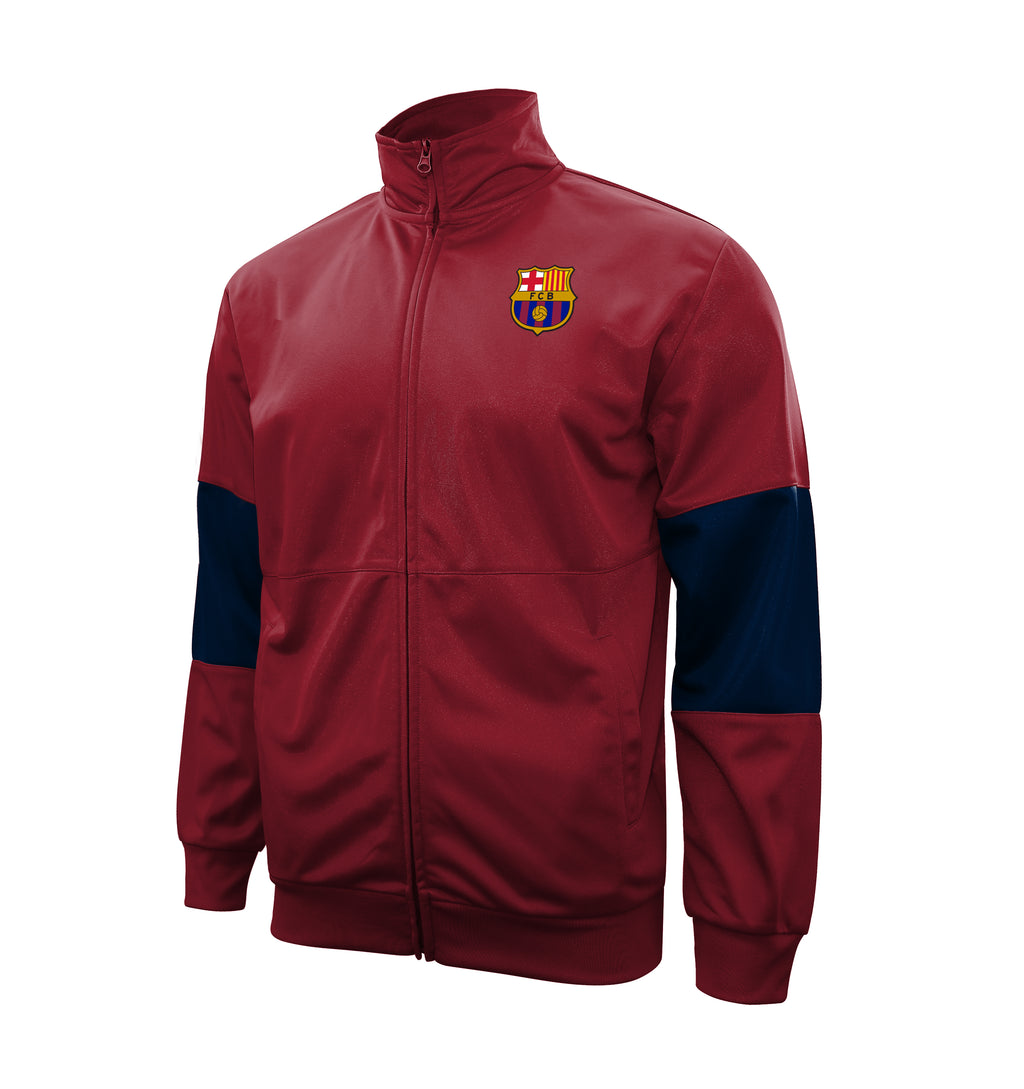 "FC Barcelona Adult Full-Zip ""Touchline"" Track Jacket - Red by Icon Sports"