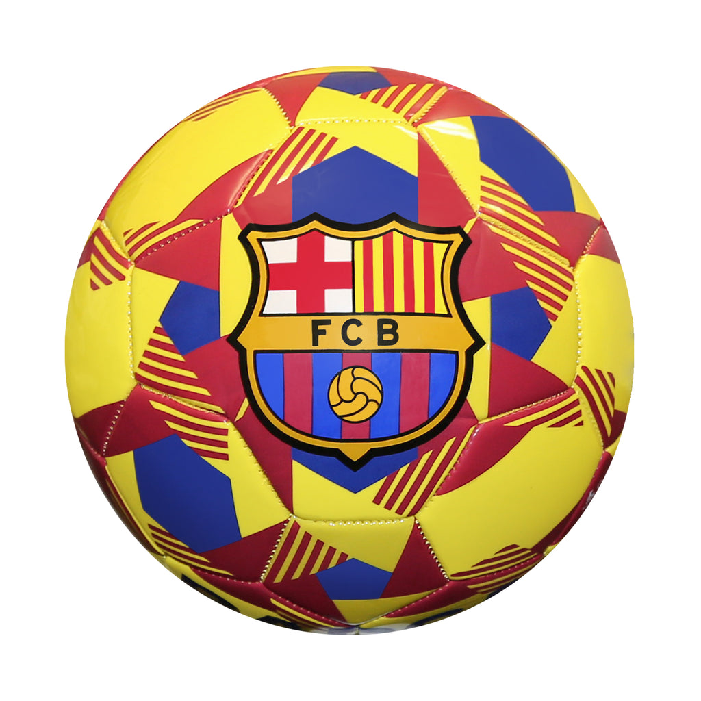 FC Barcelona Prism Size 5 Soccer Ball - Yellow