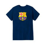 FC Barcelona Logo Youth T-Shirt - Navy by Icon Sports