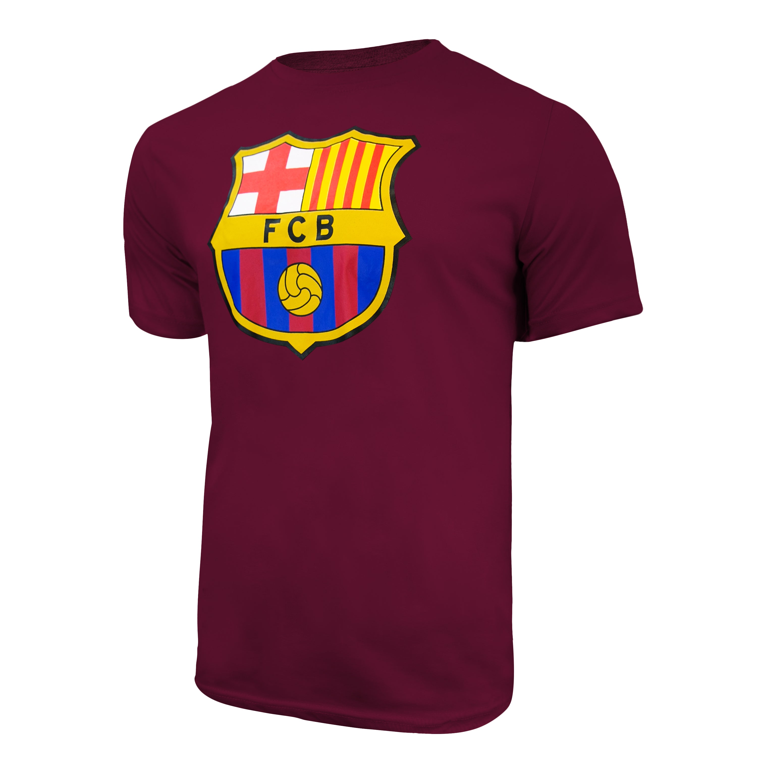 FC Barcelona Color Logo T-Shirt - Maroon by Icon Sports