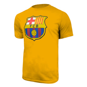 FC Barcelona Color Logo T-Shirt - Yellow by Icon Sports
