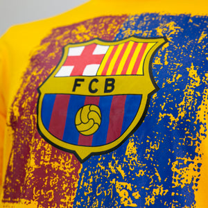 FC Barcelona Color Distressed Logo T-Shirt - Dark Heather by Icon Sports
