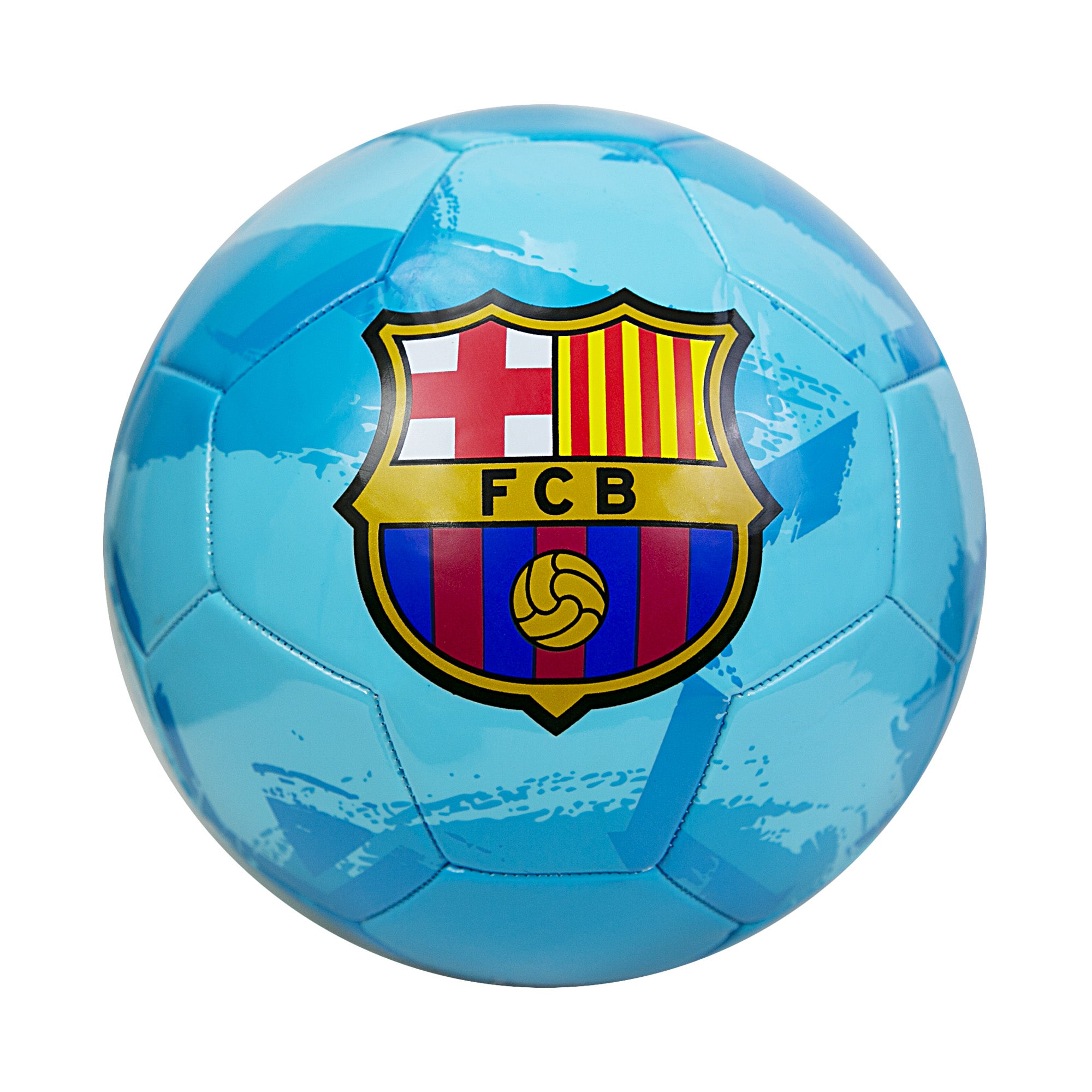 FC Barcelona Brush Size 5 Soccer Ball - Teal by Icon Sports