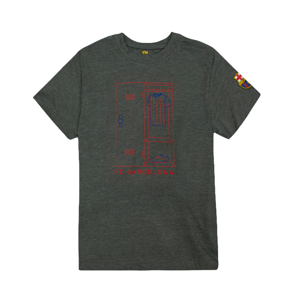 "FC Barcelona ""Next Play"" Youth T-Shirt - Dark Heather Grey by Icon Sports"