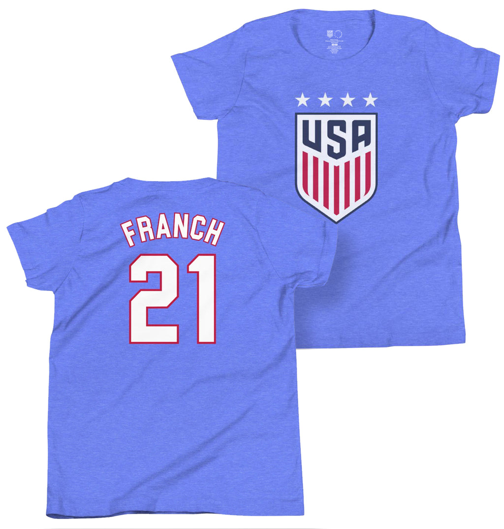 Adrianna Franch Youth USWNT 4 Star T-Shirt