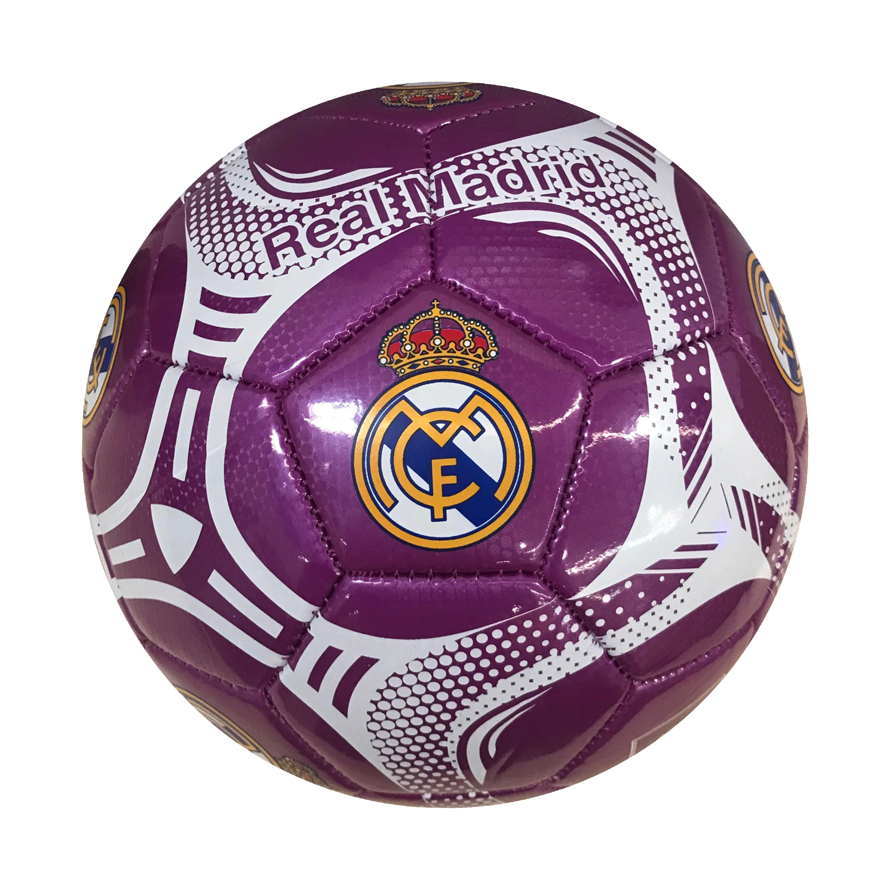 Real Madrid Purple Comet Size 5 Soccer Ball by Icon Sports