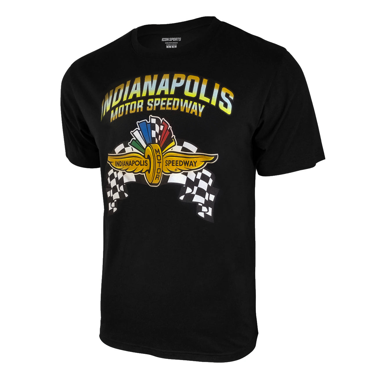 Indianapolis Motor Speedway Men's T-Shirt - Black by Icon Sports