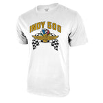 Indy 500 Wheel & Flags Adult Graphic T-Shirt for Men by Icon Sports