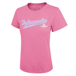 Indy 500 Script Adult Graphic T-Shirt for Women by Icon Sports