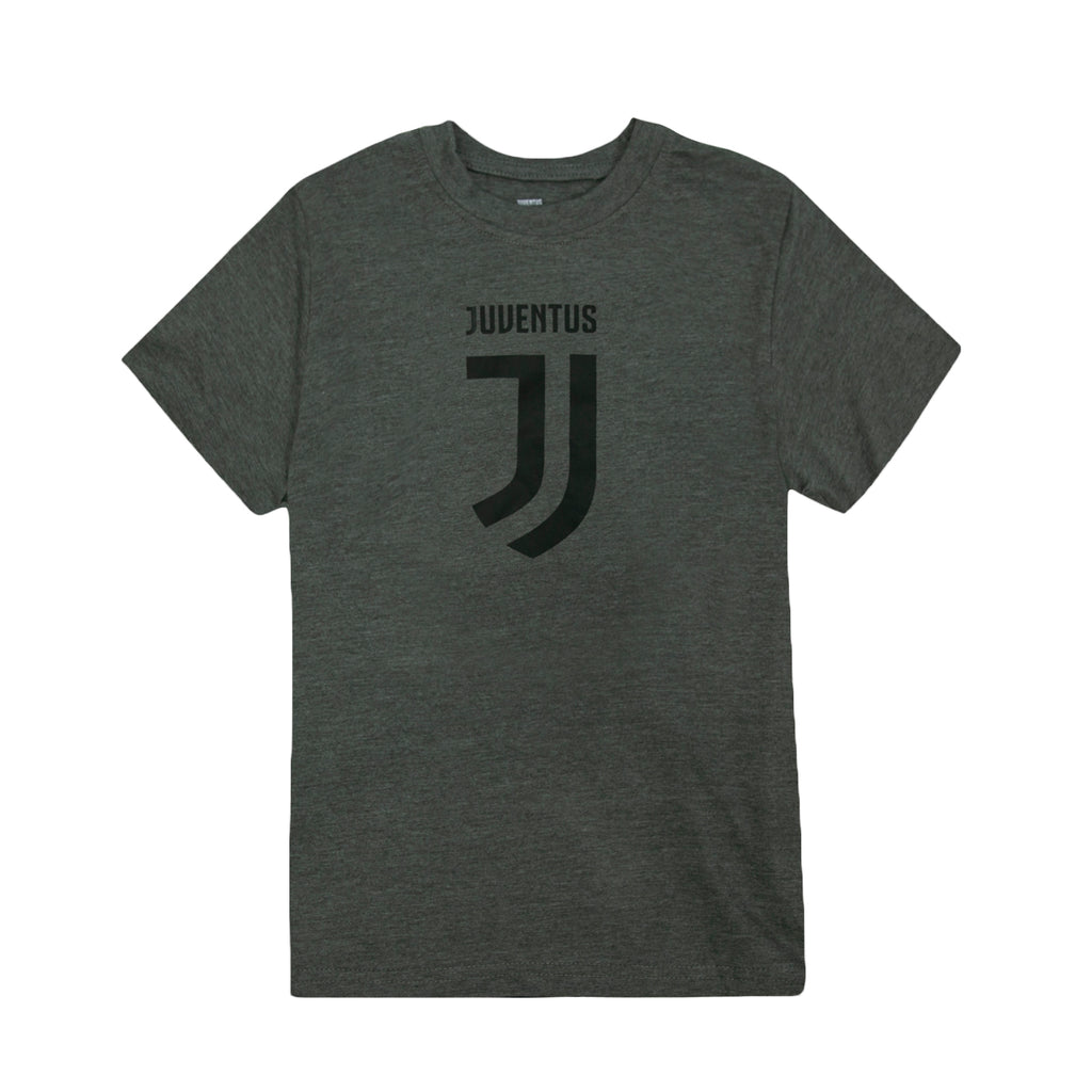 Juventus Logo Youth T-Shirt - Dark Grey by Icon Sports