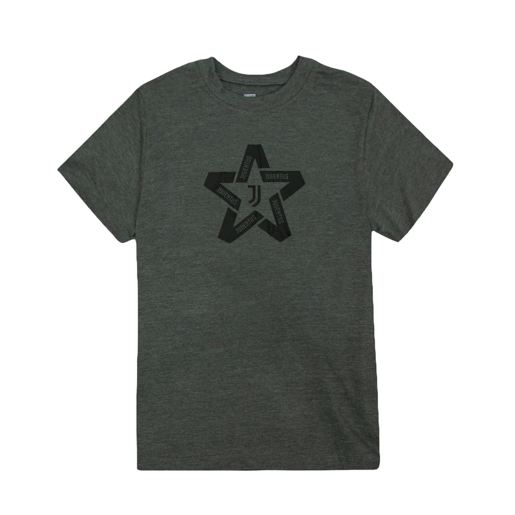 Juventus Star Youth T-Shirt - Dark Grey by Icon Sports