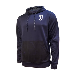 Juventus Pullover Hoodie Youth- Navy Pattern Liquified by Icon Sports