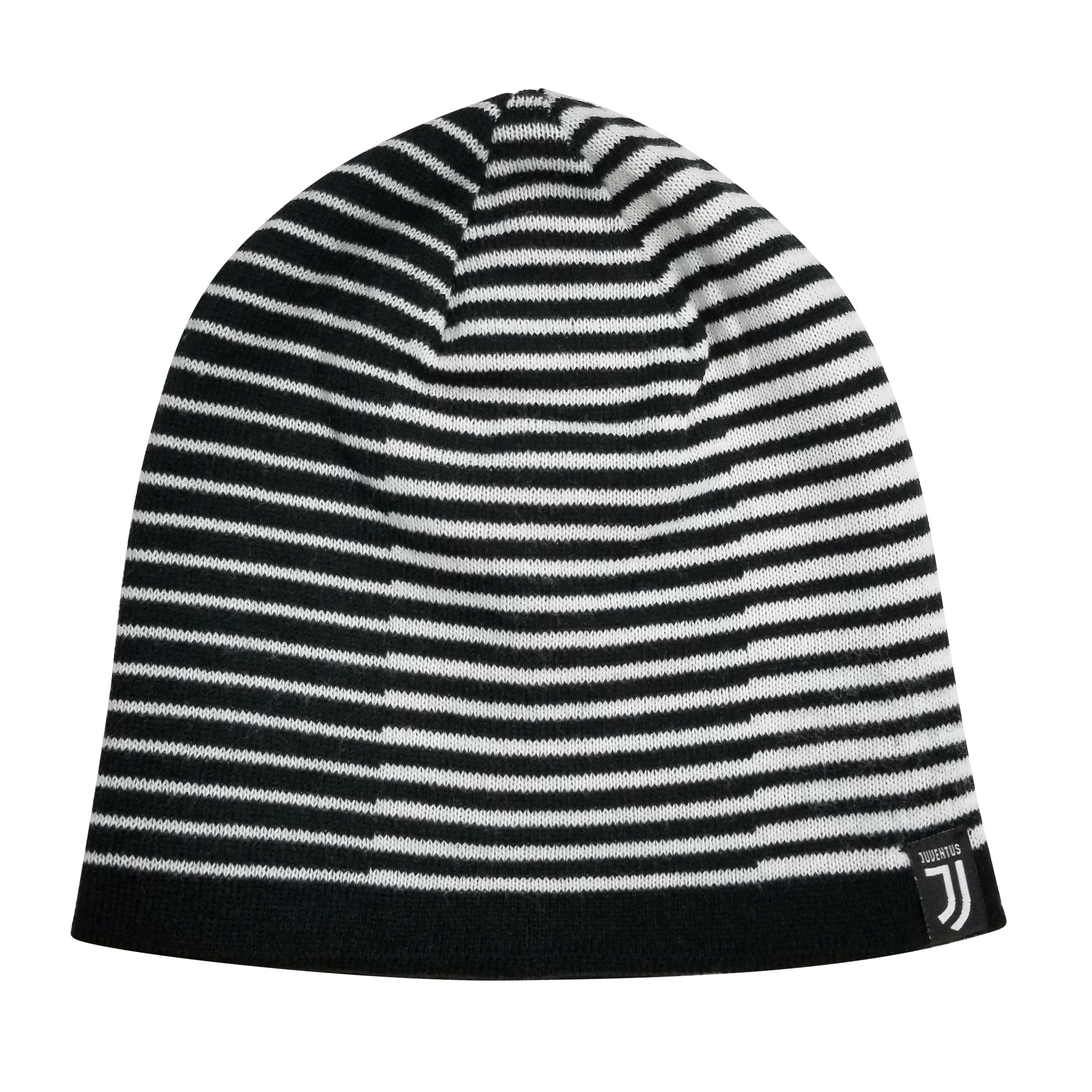 Juventus F.C. Reversible Beanie - Black & White by Icon Sports
